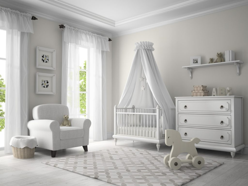 White nursery theme