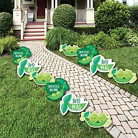 Twins-Two-Peas-Party-10pc-Lawn-Decor-Cut-Outs